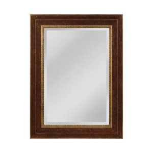Darcey Walnut and Roman Gold Rectangle Mirror
