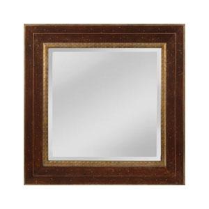 Darcey Walnut and Roman Gold Square Mirror