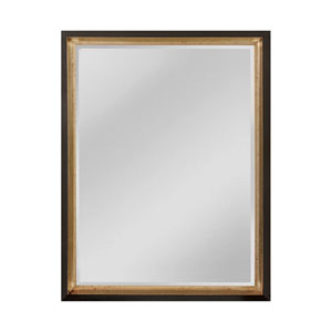 Whitfield Black and Silver 21 x 27-Inch Rectangle Mirror