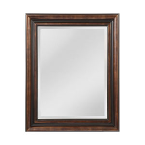 Gastonia Walnut and Black 45 x 57-Inch Rectangle Mirror