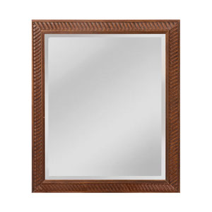 Everett Bronze and Roman Gold 25  x 29-Inch Rectangle Mirror with Wood Frame