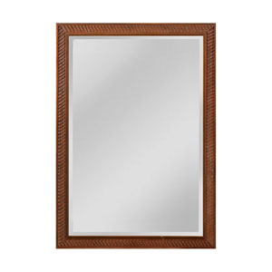 Everett Bronze and Roman Gold 29 x 41-Inch Rectangle Mirror with Wood Frame