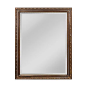 Glenroy Bronze 36 x 47-Inch Rectangle Mirror with Wood Frame