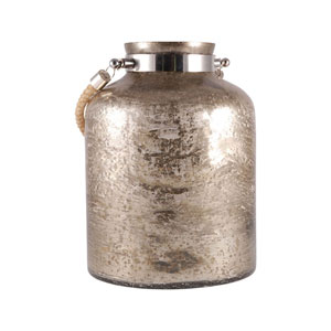 Baroness Antique Sand and Nickel 11-Inch Vase