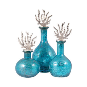 Reef Silver and Antique Turquoise Decanter