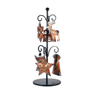 Burnham Rustic and Burned Copper Ornaments