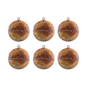 Medallion Hammered Burned Copper Ornament