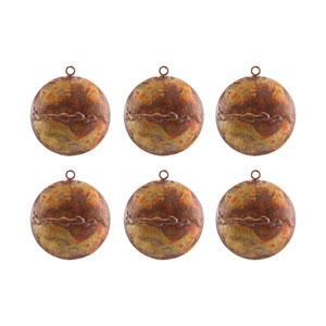 Medallion Hammered Burned Copper Ornament