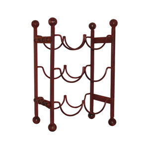 Mission Montana Rustic Six Bottle 16-Inch Wine Rack