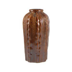 Tempest Glazed Truffle Fourteen-Inch Vase