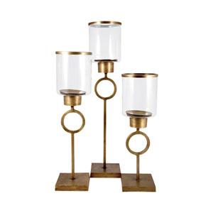 Bangle Antique Brass Twenty Six-Inch Candle Holder