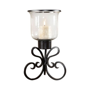 Paisley Rustic Twenty One-Inch Candle Holder