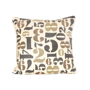 Numbers Legion Blue and Sand Throw Pillow