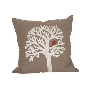 Lockwood Crema and Smoked Pearl Throw Pillow