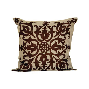 Marisa Sand and Dark Earth Throw Pillow