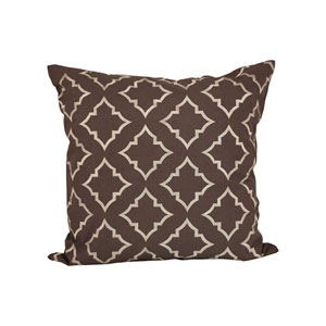 Rothway Dark Earth and Crema Throw Pillow