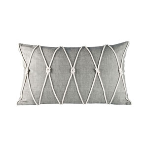 Reef Dove and White Throw Pillow