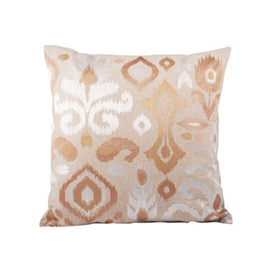 Isabella Sand and Mojave Shimmer Throw Pillow