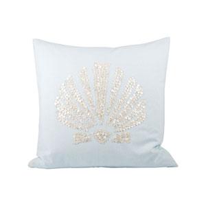 Seaside Light Blue Throw Pillow