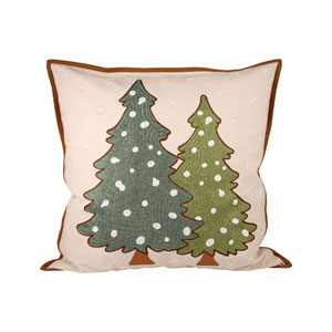 Forester Sand and Evergreen Throw Pillow