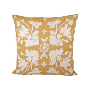 Dori Tuscan Sun and Crema Throw Pillow