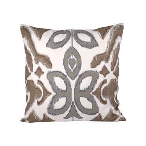 Townsend Crema and Chateau Graye Throw Pillow
