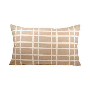 Classique Sandstone and Crema Throw Pillow