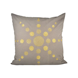 Andor Chateau Gray and Gold Throw Throw Pillow