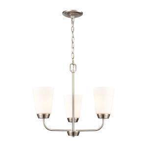Winslow Silver Brushed Nickel Three-Light Chandelier