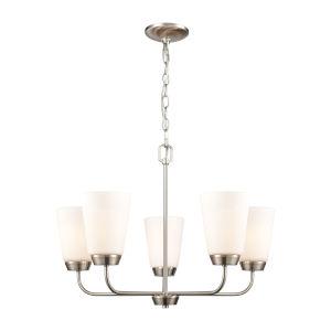 Winslow Silver Brushed Nickel Five-Light Chandelier
