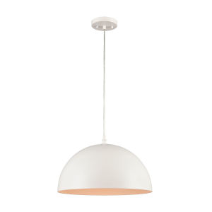 Chelsea White 16-Inch One-Light Pendant