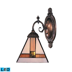 Mix-N-Match Tiffany Bronze 10-Inch LED One Light Wall Sconce