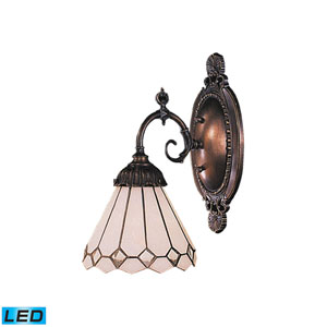 Mix-N-Match Tiffany Bronze Replaceable LED One Light Wall Sconce
