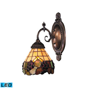 Mix-N-Match Tiffany Bronze Dimming LED One Light Wall Sconce