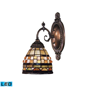 Mix-N-Match Tiffany Bronze 4.5-Inch Dimming LED One Light Wall Sconce