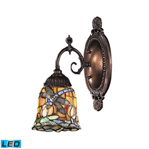 Mix-N-Match Tiffany Bronze 10-Inch Replaceable LED One Light Wall Sconce