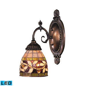 Mix-N-Match Tiffany Bronze 4.5-Inch Replaceable LED One Light Wall Sconce