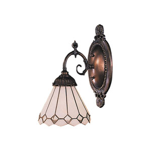 Clear Diamond Mix-N-Match Tiffany Bronze One Light Wall Sconce