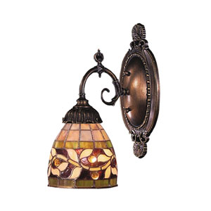 Floral Vine Mix-N-Match Tiffany Bronze One Light Wall Sconce