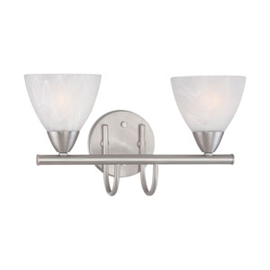 Tia Matte Nickel Two-Light Wall Sconce