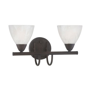 Tia Painted Bronze Two-Light Wall Sconce