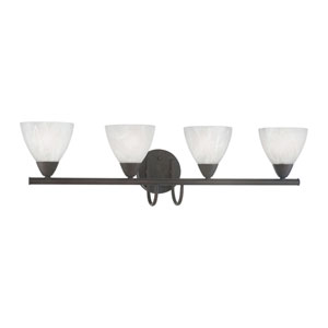 Tia Painted Bronze Four-Light Wall Sconce