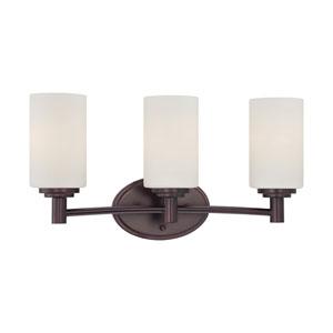 Pittman Sienna Bronze Three-Light Wall Sconce