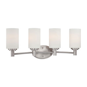 Pittman Brushed Nickel Four-Light Wall Sconce