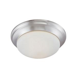 Essentials Brushed Nickel Two-Light Flush Mount