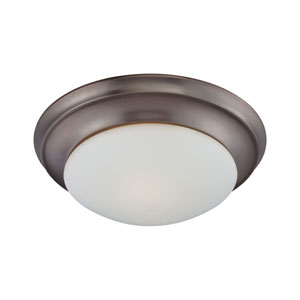 Essentials Oiled Bronze Two-Light Flush Mount