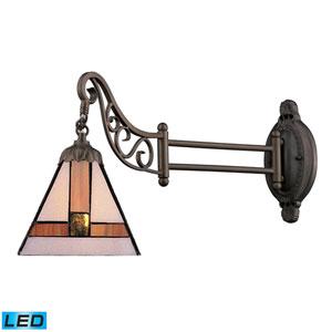 Mix-N-Match Tiffany Bronze 12-Inch LED One Light Swingarm Lamp