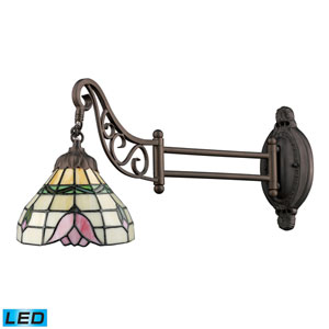 Mix-N-Match Tiffany Bronze 7-Inch LED One Light Swingarm Lamp Wall Light