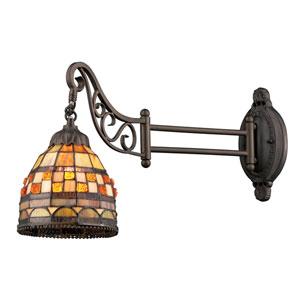Mix-N-Match Tiffany Bronze 12-Inch One Light Swingarm Lamp Sconce