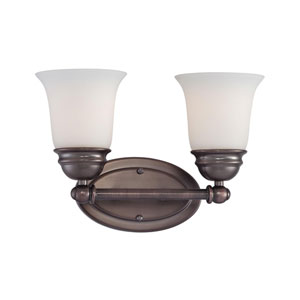 Bella Oiled Bronze Two-Light Wall Sconce